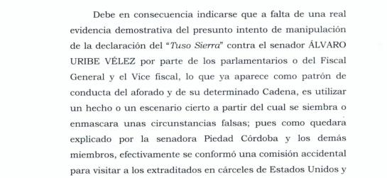 Álvaro Uribe Vélez: Uribe y Cadena habrían utilizado falsas cartas del 'Tuso' Sierra