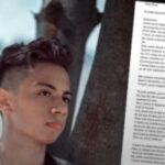 Jaider había planeado desde hace un año su suicidio, revela carta que dejó a un amigo
